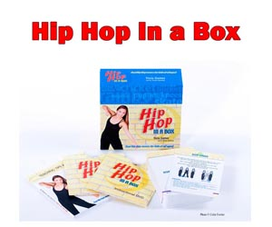 Hip Hop In a Box by Tricia Gomez.  Hip Hop made easy!  Everything you need to choreograph and teach hip hop to kids age 3-adult!